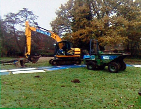 It couldn't be done without a mech digger & dumper truck